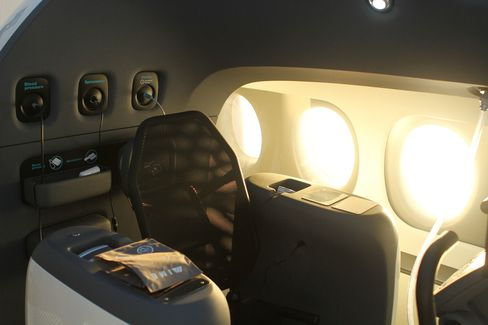 Sukhoi's SportJet with feature seats that monitor heart rate, hydration and oxygen levels.