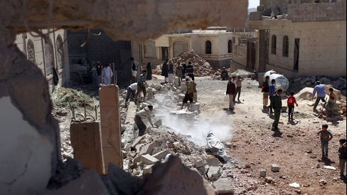 Saudi-led air-strike in Sana'a