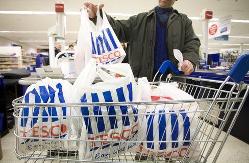 Tesco Says Full-Year Profit Rises 14% to 2.66 Billion Pounds