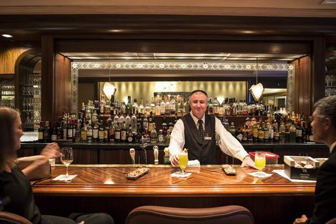 Sonny, the bartender at Sir Harry's who used to serve Frank Sinatra.