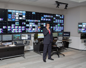 Cesar Conde, president of Univision, at the new Fusion studio outside Miami