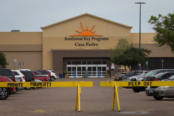 Walmart Says Use of Former Store to Detain Kids Is `Disturbing'