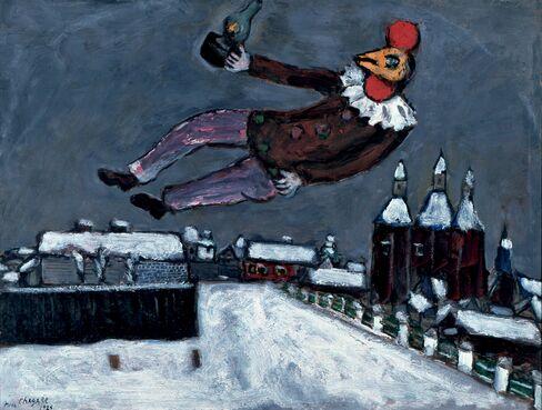 'Rooster Man Above Vitebsk'