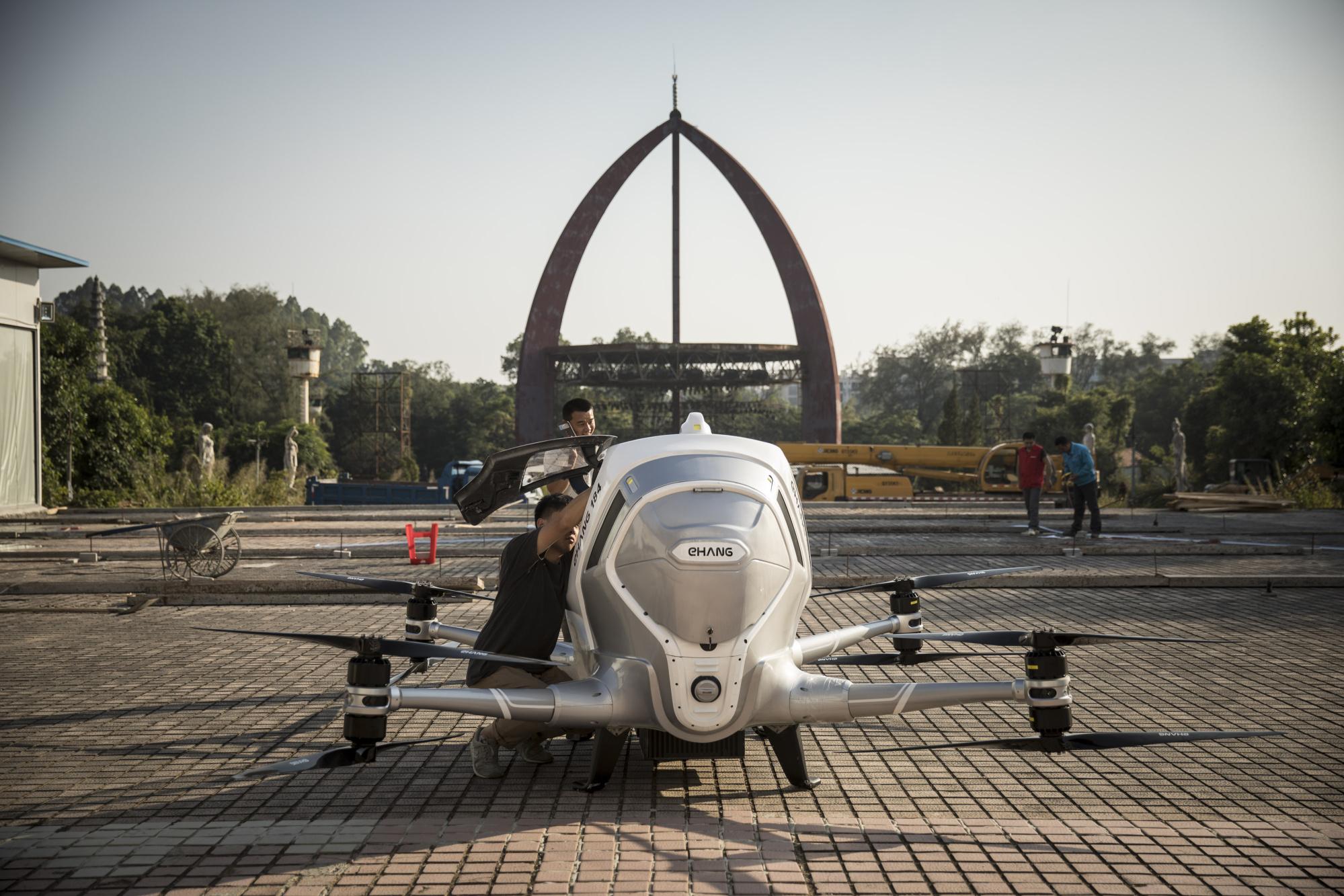 Inside EHang Inc.'s Drone-Testing Facility