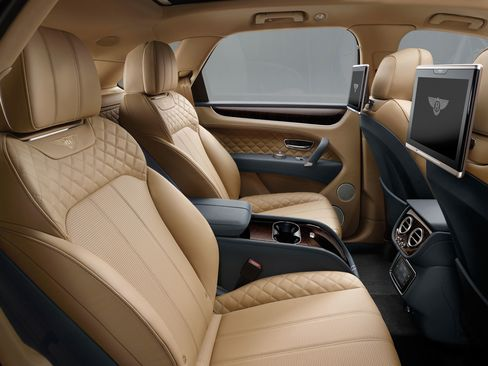 The Bentayga features quilted stitching throughout.