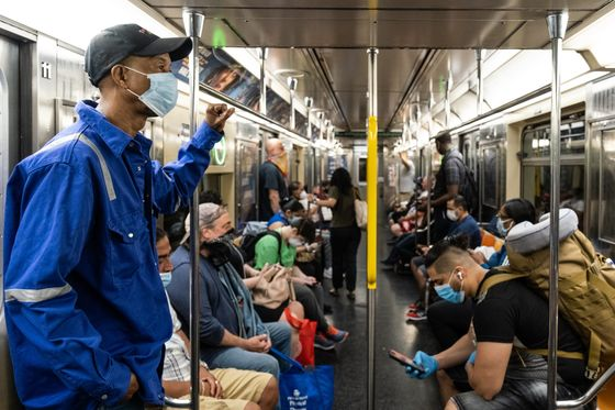 Fearful Commuters on Trains, Buses Hold One Key to U.S. Recovery