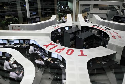 Japan Stocks Rise Second Day