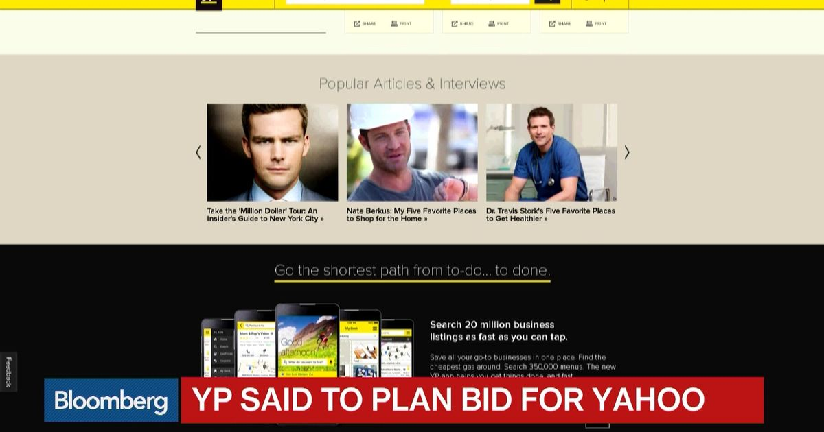 YP Holdings Said to Plan Offer for Yahoo - Bloomberg