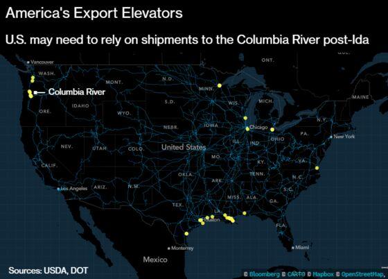 Ida Puts America's Grain Export Infrastructure to the Test