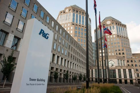 Proctor and Gamble Co. headquarters stands in downtown Cincinnati, Ohio, on Aug. 19, 2014.