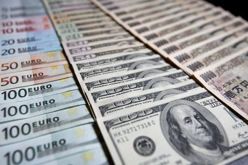 Euro, U.S. Dollar and Yen Currency