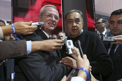 VW CEO Martin Winterkorn and Fiat CEO Sergio Marchionne
