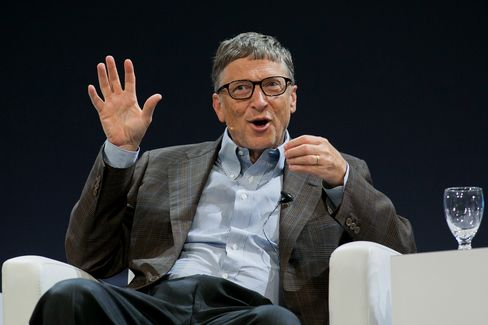 Billionaire Bill Gates Speaks At The Sibos Conference