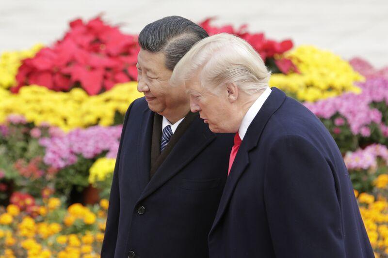 Donald Trump andXi Jinping