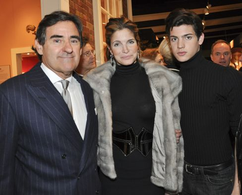 Peter Brant, Stephanie Seymour and Peter Brant II
