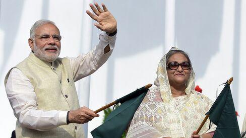Narendra Modi & Sheikh Hasina