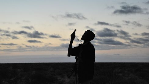 Searching for a network signal on the plains of Somalia. O3b focuses its space Internet venture on equatorial regions.