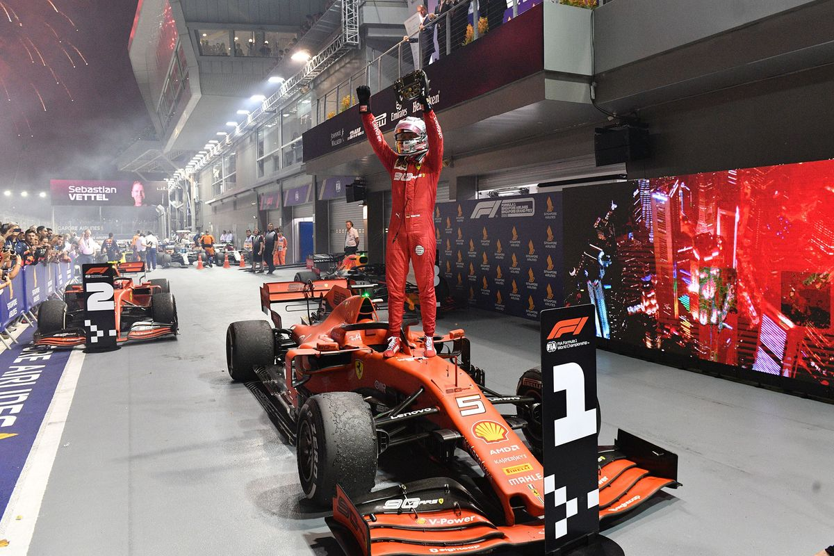 Ferrari Driver Sebastian Vettel Wins Singapore Grand Prix