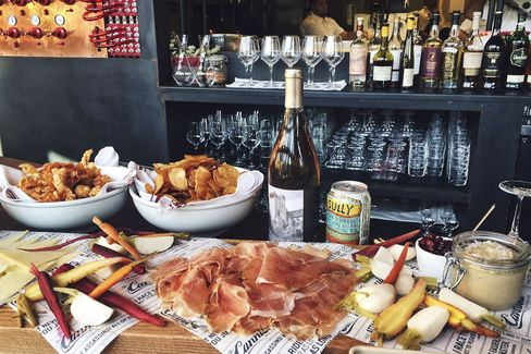 The charcuterie spread at the Cannibal, Los Angeles