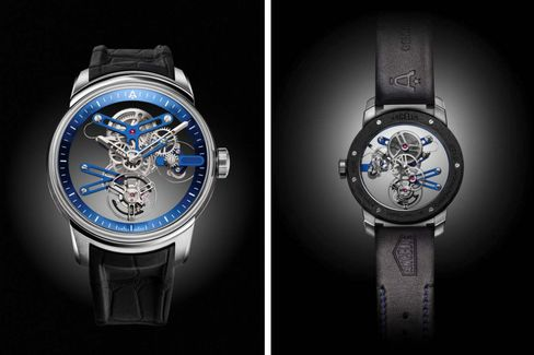 The front and back of the U20 Ultra-Skeleton Tourbillon.