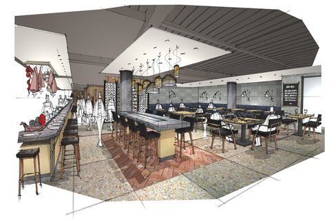 A rendering of the new Jose Pizarro at Broadgate Circle.