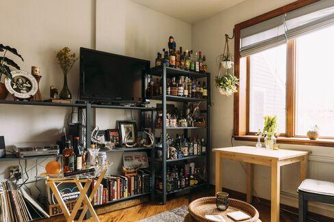自宅のリキュール棚