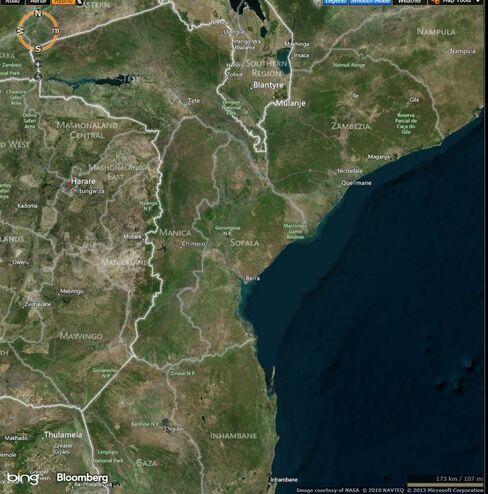 MAP: Mozambique's Sofala province