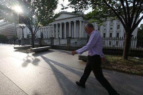 Closed U.S. Treasury Building