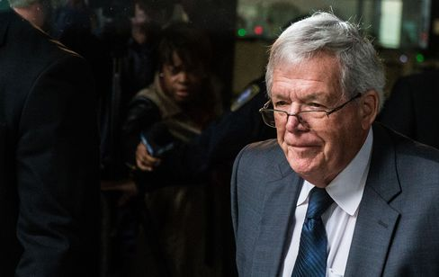 Former U.S. House Speaker Dennis Hastert leaves a courthouse on Oct. 28, 2015, in Chicago.