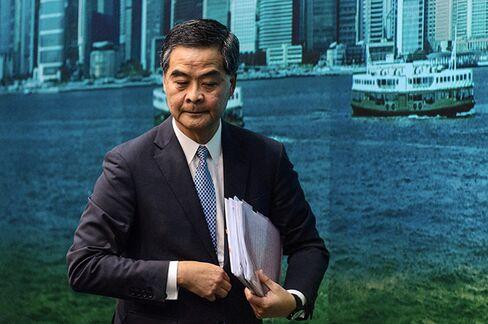 Leung Chun-ying on Sept. 21.
