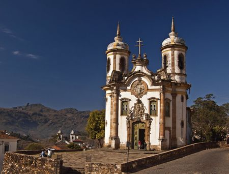 The Baroque church of Saint Francis of Assisi (1766) in Ouro Preto.
