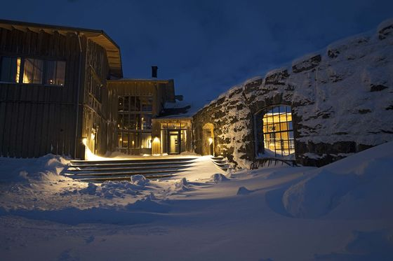 At This New Arctic Adventure Base, You Can Ski Under the Midnight Sun