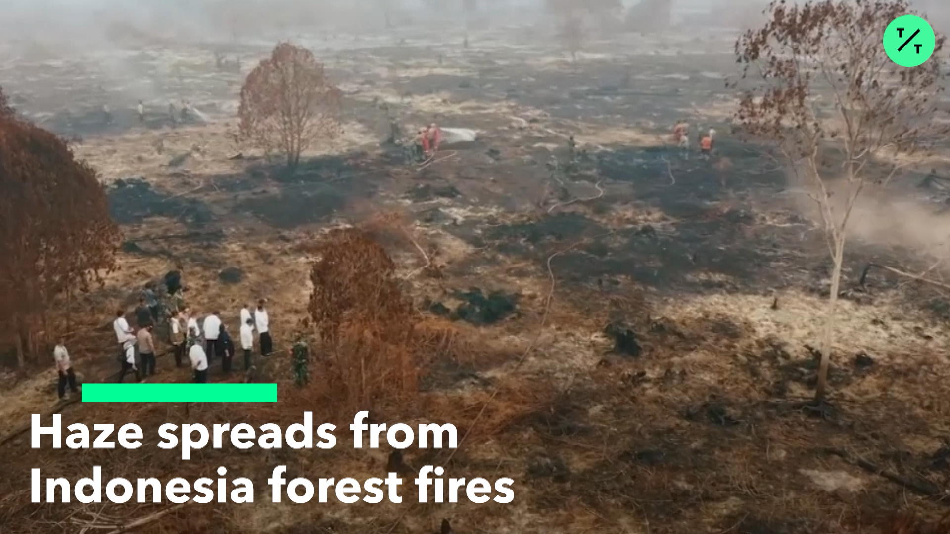 Haze Spreads From Indonesia Forest Fires