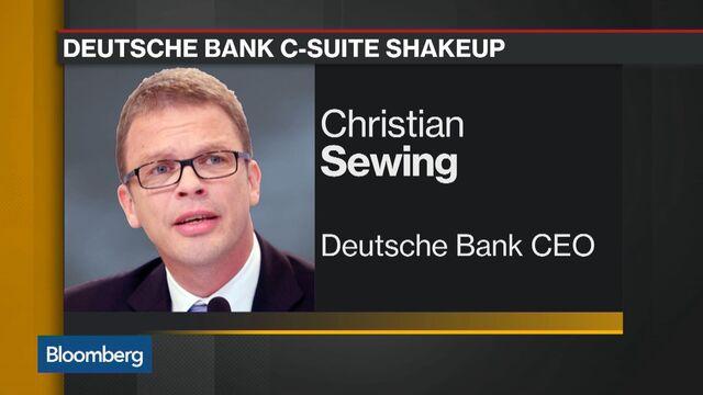 Hasil gambar untuk Deutsche Bank Names Sewing CEO, Replacing Cryan in Broad Revamp