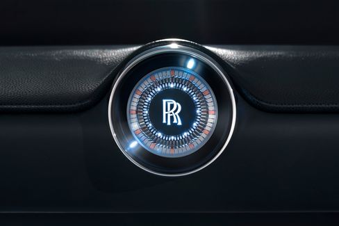 The car contains the same signature touches, such as the interlocking RR, that current models have.