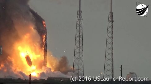 Explosion at the SpaceX launch site on Sept. 1.