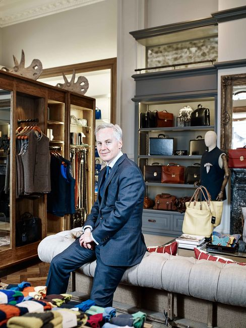 Paul Clark, the Crown Estate's investment director, in Osprey, a store in London's St. James's district