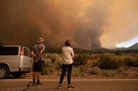 Firefighters Battle The Tamarack Fire In Alpine County
