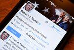 米国のドナルドトランプ大統領のTwitterアカウント。