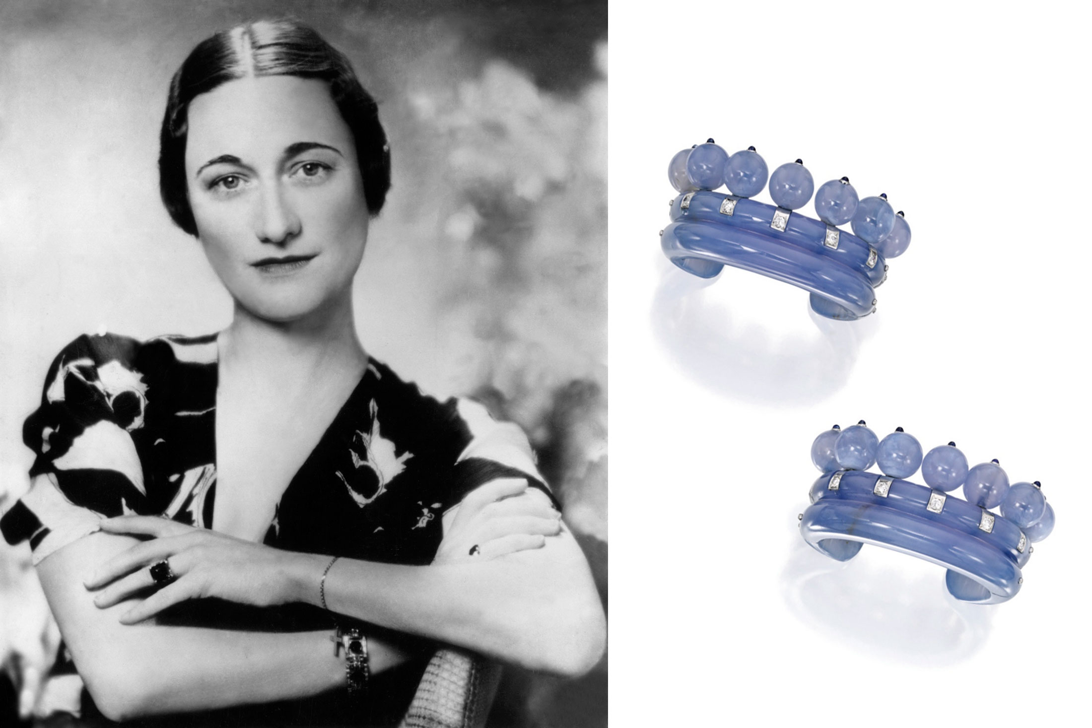 Chalcedony Bracelets Owned by the Duchess of Windsor