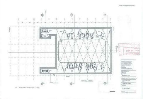 Car museum floor level design.