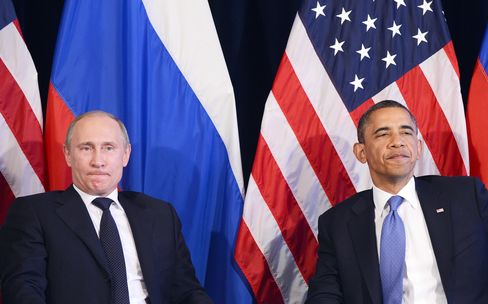 Russia's President Vladimir Putin & U.S. President Barack Obama