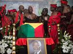 Local chiefs, politicians and extended family members pay their respects to Kofi Annan