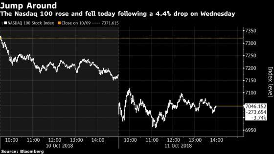 Stocks Sink in Turbulent Trading, Treasuries Gain: Markets Wrap