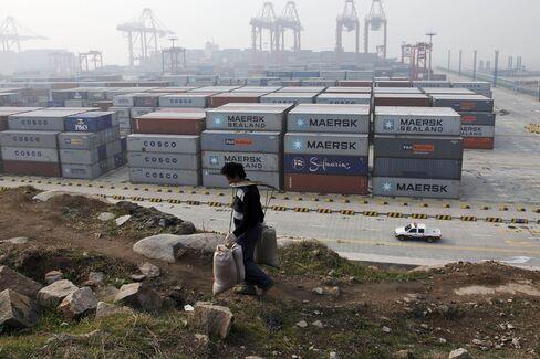 Workers At The Yangshan Deep-Water Port