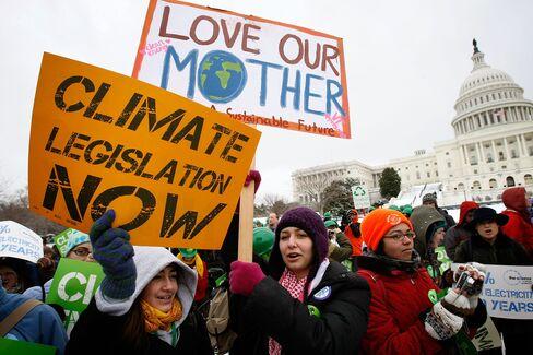 Environmental Activists at U.S. Capitol