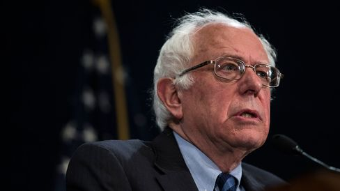 Democratic presidential candidate Bernie Sanders speaks during a news conference on May 1, 2016, in Washington.