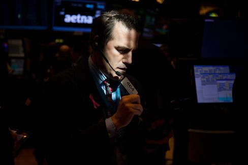 Trading On The Floor Of The NYSE As U.S. Stocks Climb While Tech Shares Rally While Rate Anxiety Ebbs