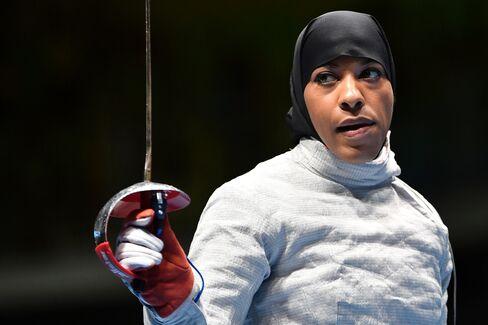 U.S. fencer Ibtihaj Muhammad.