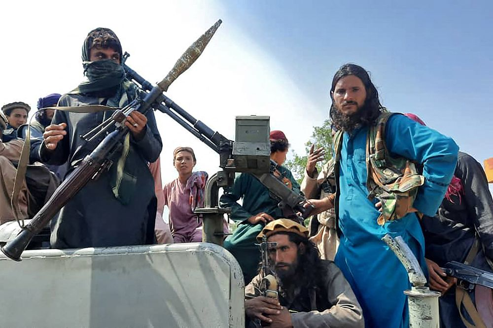 Taliban fighters on a vehicle in Laghman province, west of Kabul,on Aug. 15.